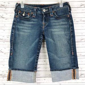 True Religion Sophie Denim Jeans Bermuda Shorts